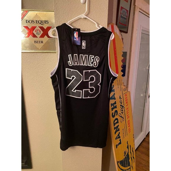 lebron james black and white jersey